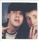 Me and Mike at a Boardwalk photo booth, 1985.