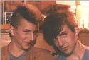 Me and Mike, in his room, Aptos 1985. The Mohawk cut was my doing.